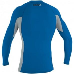 O'Neill Wetsuits Premium Skins Long Sleeve Crew Rash Guard - Ocean/Cool Grey