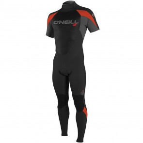 O'Neill Epic 2mm Short Sleeve Full Wetsuit - Black/Graphite/Neon Red
