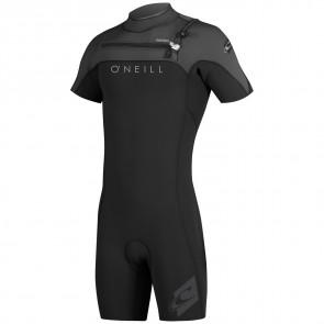 O'Neill HyperFreak 2mm Short Sleeve Spring Wetsuit - Black/Graphite/Sky