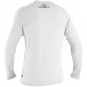 O'Neill Wetsuits Basic Skins Long Sleeve Rash Tee - White