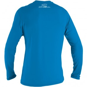 O'Neill Youth Basic Skins Long Sleeve Rash Tee - Brite Blue