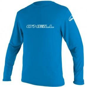 O'Neill Wetsuits Youth Basic Skins Long Sleeve Rash Tee - Brite Blue