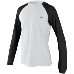 O'Neill 24/7 Tech Long Sleeve Crew Rash Guard - White/Black
