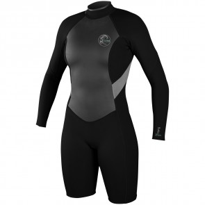 O'Neill Women's Bahia 2/1 Long Sleeve Spring Wetsuit - Black/Lunar