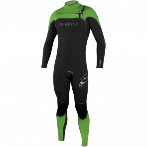 O'Neill Psycho I 3/2 Chest Zip Wetsuit - Black/DayGlo/Lunar