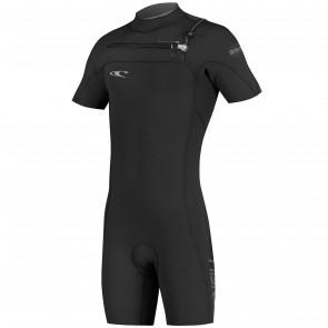 O'Neill HyperFreak 2mm Short Sleeve Spring Wetsuit - Black/Deep Sea