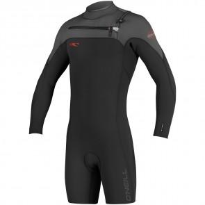 O'Neill HyperFreak 2mm Long Sleeve Spring Wetsuit - Black/Graphite/Neon Red