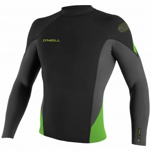 O'Neill Wetsuits HyperFreak 1.5mm Jacket - Black/Graphite/DayGlo