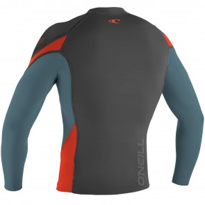 O'Neill Wetsuits HyperFreak 1.5mm Jacket - Graphite/Dusty Blue/Neon Red