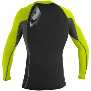 O'Neill Wetsuits Skins Graphic Long Sleeve Crew - Lime/Graphite/Black