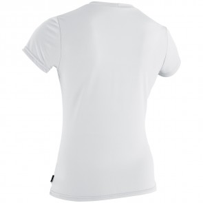 O'Neill Wetsuits Women's Skins Graphic Rash Tee - White