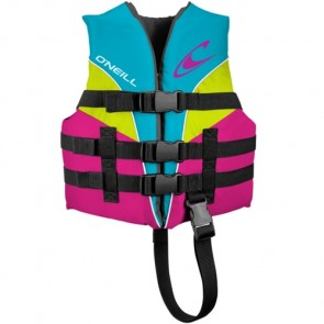 O'Neill Child Superlite USCG PFD Vest - Turquoise/Berry/Lime