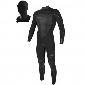 O'Neill Mutant 4/3 Wetsuit with Hood - Black