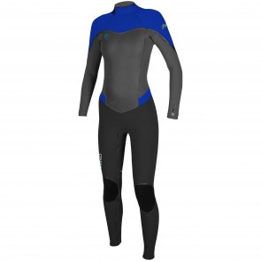 O'Neill Women's Flair 4/3 Wetsuit - Black/Graphite/Tahitian Blue