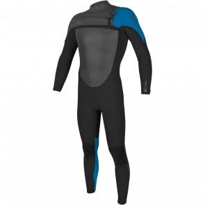 O'Neill SuperFreak 3/2 Chest Zip Wetsuit - Black/Bright Blue