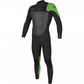 O'Neill SuperFreak 4/3 Chest Zip Wetsuit - Black/DayGlo