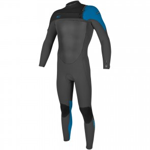 O'Neill SuperFreak 4/3 Chest Zip Wetsuit - Graphite/Black/Bright Blue