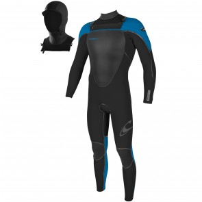 O'Neill Youth Mutant 5/4 Wetsuit with Hood - Black/Bright Blue