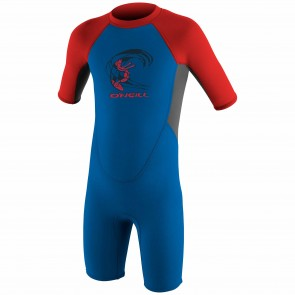 O'Neill Toddler Reactor 2mm Spring Wetsuit - Ocean/Graphite/Red