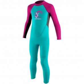 O'Neill Toddler Reactor 2mm Wetsuit - Aqua/Graphite/Berry