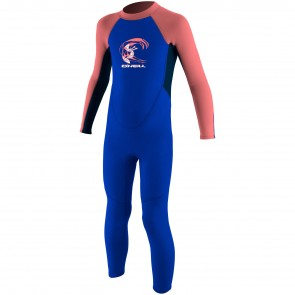 O'Neill Toddler Reactor 2mm Wetsuit - Tahiti Blue/Slate/Coral