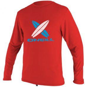 O'Neill Wetsuits Toddler Skins Long Sleeve Rash Tee - Red