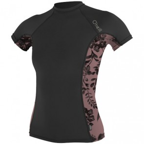 O'Neill Wetsuits Women's Side Print Crew - Black/Luna