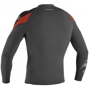 O'Neill Hammer 1.5mm Long Sleeve Jacket - Graphite/Black/Neon Red