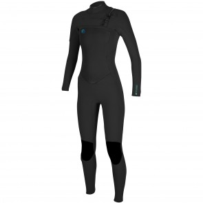 O'Neill Women's O'Riginal 4/3 Chest Zip Wetsuit - Black