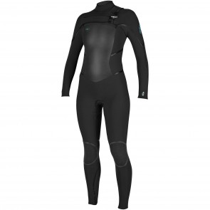 O'Neill Women's Psycho Tech 4/3 Chest Zip Wetsuit - Black