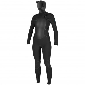 O'Neill Women's Psycho Tech 5.5/4 Hooded Chest Zip Wetsuit