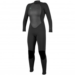 O'Neill Women's Reactor II 3/2 Back Zip Wetsuit - Black