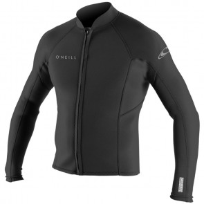 O'Neill Wetsuits Reactor II 2mm Chest Zip Long Sleeve Jacket - Black