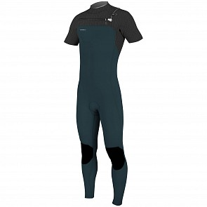 O'Neill HyperFreak 2mm Short Sleeve Chest Zip Wetsuit - Black/Slate