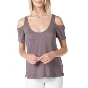 O'Neill Women's Katrina Cold Shoulder Top - Grey