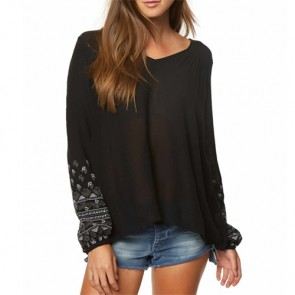 O'Neill Women's Mariana Long Sleeve Top - Black