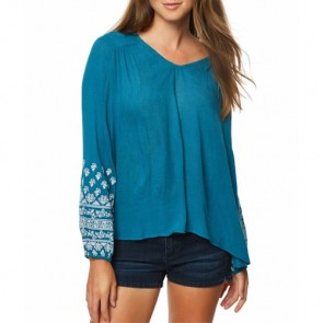 O'Neill Women's Mariana Long Sleeve Top - Blue