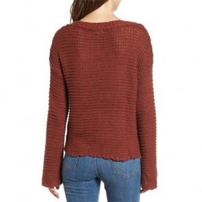 O'Neill Women's Hillary V-Neck Sweater - Red