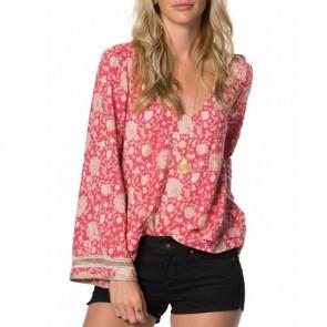 O'Neill Women's Landon Long Sleeve Top - Berry