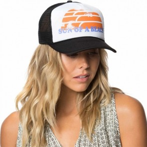 O'Neill Women's Coco Beach Trucker Hat - Black/White