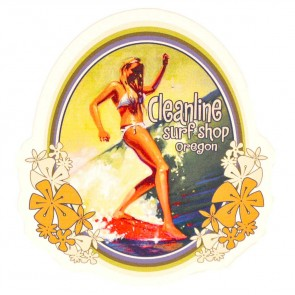 Cleanline Surf Surfer Girl Sticker