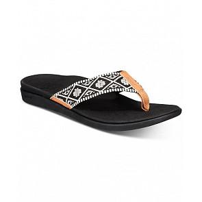 Reef Women's Ortho Bounce Woven Sandals - Black/White
