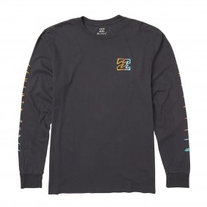 Billabong Oscura Long Sleeve Tee Shirt - Char