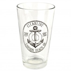Cleanline Surf Anchor Cannon Beach Pint Glass