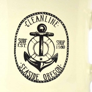 Cleanline Anchor Seaside Mug - Cream/Black