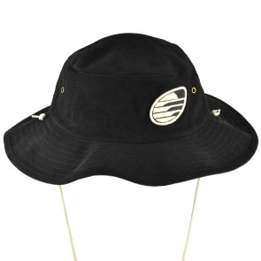 Cleanline Embroidered Rock Bucket Hat - Black/Cream