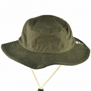 Cleanline Embroidered Rock Bucket Hat - Olive/Cream