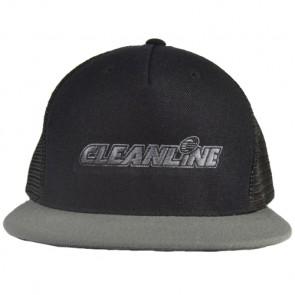 Cleanline Corp Logo Flat-Bill Mesh Hat - Black/Grey