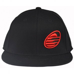 Cleanline Embroidered Rock Hat - Black/Red