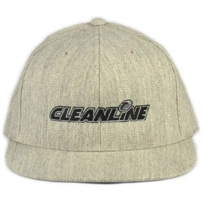 Cleanline Embroidered Corp Logo Cannon Beach Hat - Heather Grey/Black
